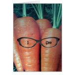 CARROT HUMOR ON MY TWIN'S BIRTHDAY GREETING CARDS