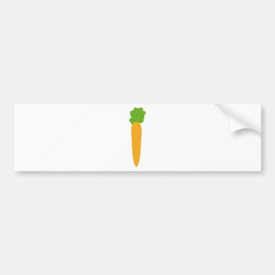carrot icon bumper sticker