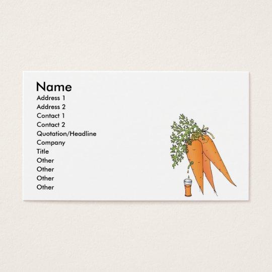 carrot juice business card