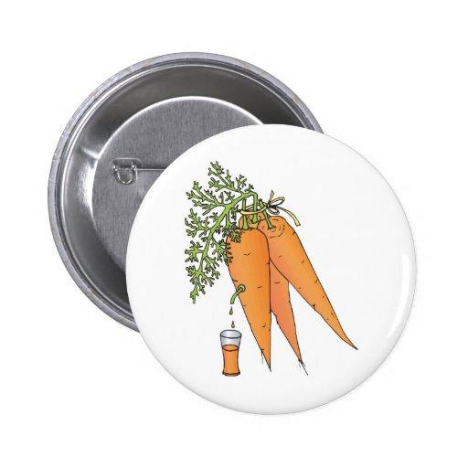 carrot juice pinback button