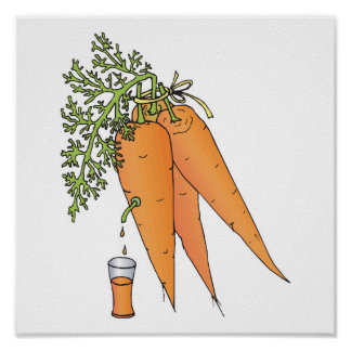 carrot juice poster