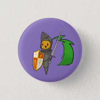 Carrot Knight Pinback Button