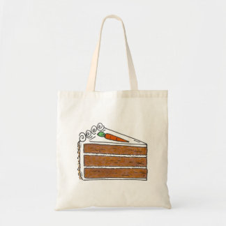 Carrot Layer Cake Slice Dessert Baking Foodie Tote