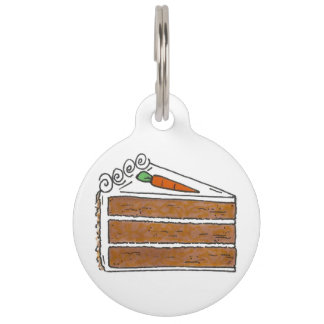 Carrot Layer Cake Slice Sweet Foodie Pet Dog Tag