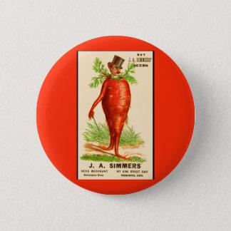 carrot man Victorian trade card Button