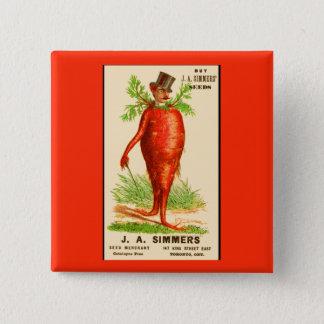 carrot man Victorian trade card Pinback Button