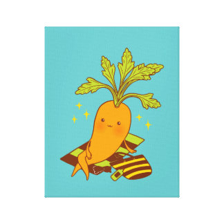 Carrot on Vacation Canvas Print