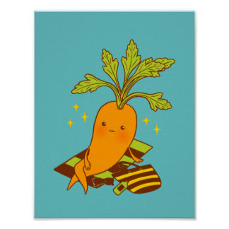 Carrot on Vacation Poster