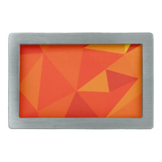 Carrot Orange Abstract Low Polygon Background Belt Buckle