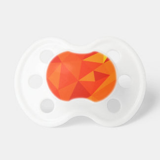 Carrot Orange Abstract Low Polygon Background Pacifier