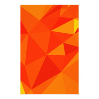 Carrot Orange Abstract Low Polygon Background Stationery