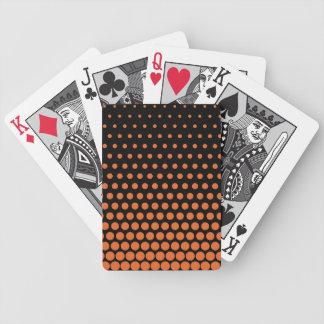 Carrot Orange Polka Dot Modern Black Bicycle Playing Cards
