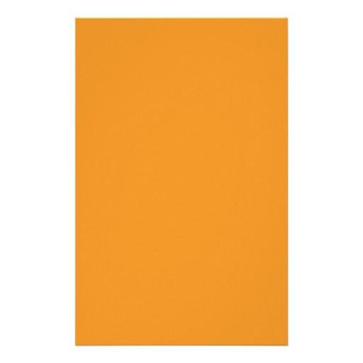 Carrot Orange Customized Stationery