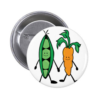 Carrot & Peas 2 Inch Round Button
