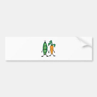 Carrot & Peas Car Bumper Sticker