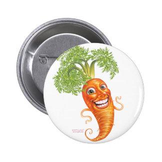 carrot pinback button