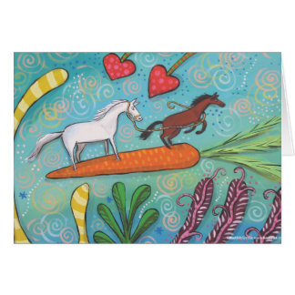 Carrot Surfers of Hope Card