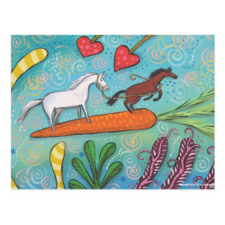 Carrot Surfers of Hope Postcard