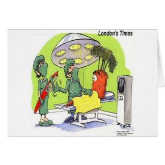 Carrot Surgery Funny Medical Cartoon Card