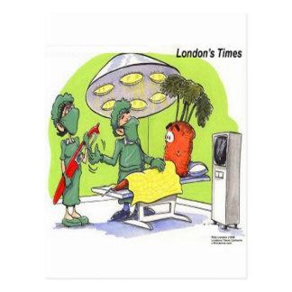 Carrot Surgery Funny Medical Cartoon Postcard