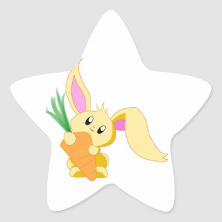 Carrot the Bunny Star Sticker