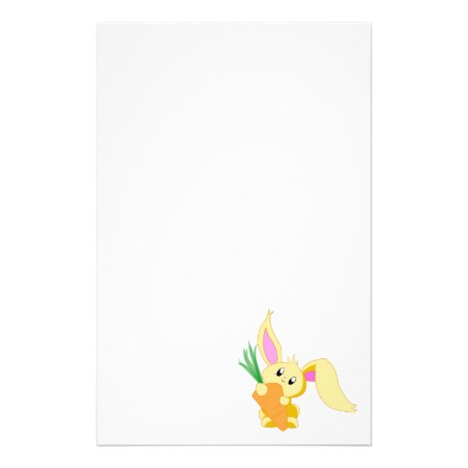 Carrot the Bunny Stationery Design