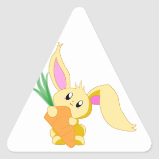 Carrot the Bunny Triangle Sticker