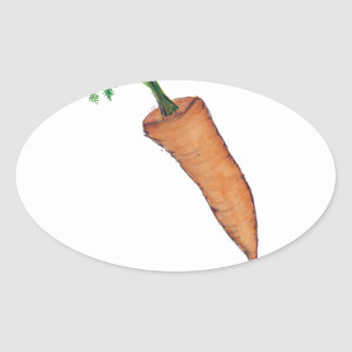 carrot, tony fernandes oval sticker