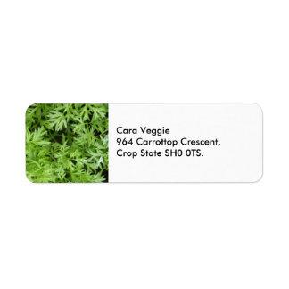 Carrot Tops Custom Address Labels