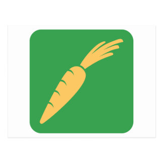 Carrot Vegetable Icon Postcard