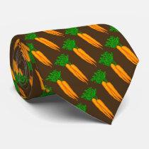 Carrot vegetable pattern food tie