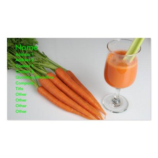 carrotjuice profile card business card templates