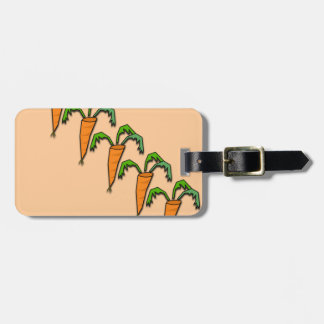 Carrots all Lined up Peach Color Bag Tag