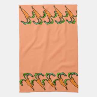 kitchen towel, carrot