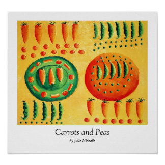 Carrots and Peas Print Posters