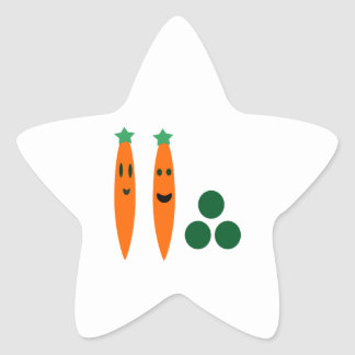 Carrots and Peas Star Sticker
