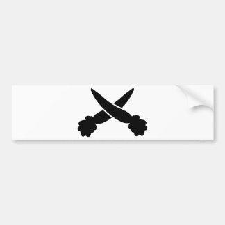 carrots black icon bumper sticker