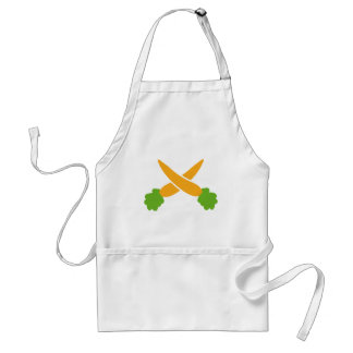 Carrots crossed adult apron