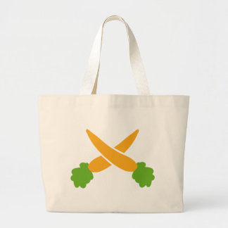Carrots crossed canvas bags