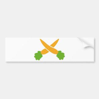 Carrots crossed bumper sticker
