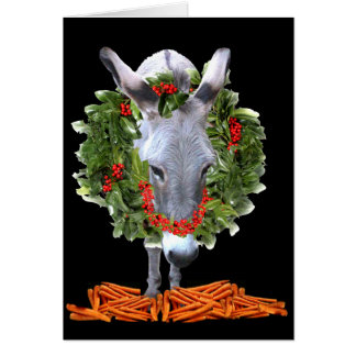 CARROTS FOR CHRISTMAS GREETING CARD
