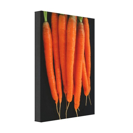 Carrots from our garden canvas print