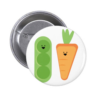 Carrots & Peas 2 Inch Round Button