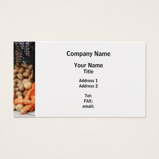 Carrots, Potatoes and Honey - Platinum Finish Business Card