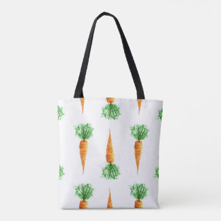 Carrots watercolor modern pattern tote bag