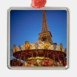 Carrousel, Eiffel Tower, Paris, France Christmas Tree Ornament