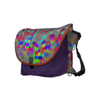 """Carrousel""  Geometric Abstract Courier Bag"