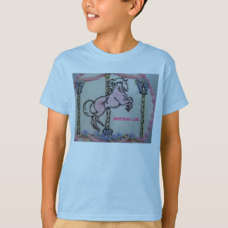 Carrousel Horse, BIRTHDAY GIRL T-Shirt