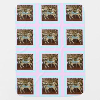 Carrousel Horses Baby Blanket