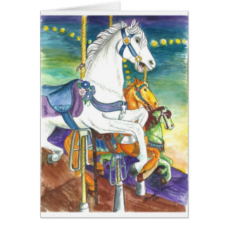 carrousel rides of happy times card